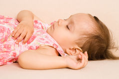Cute girl sleeping Royalty Free Stock Image