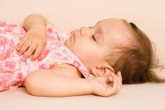 Cute girl sleeping Royalty Free Stock Image