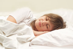 Cute girl sleeping Royalty Free Stock Photos