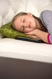 Cute girl sleeping. Stock Photos