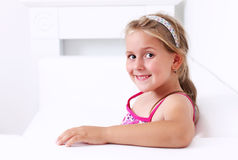 Cute girl smiling Stock Photos