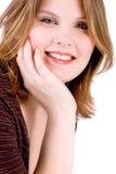 Cute girl smiling stock image
