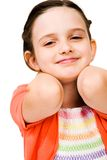Cute girl smiling Royalty Free Stock Photo