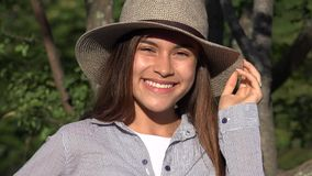 Cute Girl Smiling Teen Female stock footage