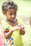 Fijian girl gets gift Stock Image