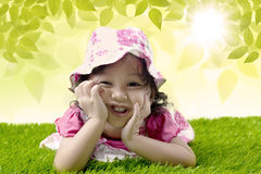 Cute girl in spring Stock Image