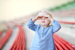 Cute girl on a stadium Stock Photography