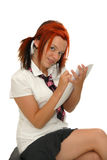 Cute girl student Stock Image