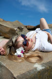 Cute girl in summer style Royalty Free Stock Image