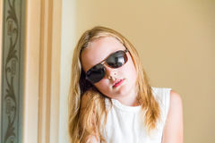 Cute girl in sunglass Royalty Free Stock Photos