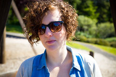 Cute Girl in Sunglasses Royalty Free Stock Photos