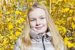 Cute girl in sunlight Royalty Free Stock Photos