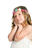 Cute girl with sweet face expression. Stock Photography