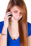 Cute Girl Talking on the Phone Royalty Free Stock Photography