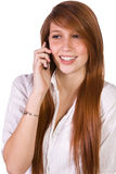 Cute Girl Talking on the Phone Stock Image