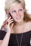 Cute Girl Talking on the Phone Stock Photography