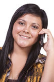 Cute Girl Talking on the Phone Stock Images