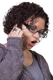Cute Girl Talking on the Phone Stock Photo