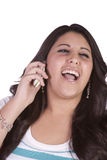 Cute Girl Talking on the Phone Royalty Free Stock Photo