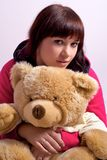 Cute girl with teddy Royalty Free Stock Photos