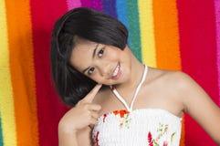 Cute girl. Thailand girls doing cute verb Royalty Free Stock Photo
