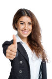 Cute Girl with thumb up Stock Photo
