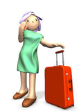 A cute girl is about to travel. Stock Photos