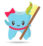 Cute girl tooth Royalty Free Stock Photo