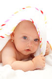 Cute girl with towel. Adorable girl after the bath with towel Royalty Free Stock Photo
