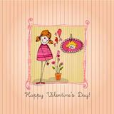 Cute girl for valentines day Royalty Free Stock Photo