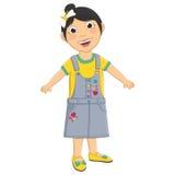 Cute Girl Vector Illustration Stock Photography