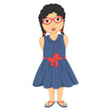 Cute Girl Vector Illustration Royalty Free Stock Images