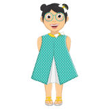 Cute Girl Vector Illustration Royalty Free Stock Photography