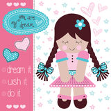 Cute girl vector Royalty Free Stock Photography