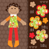 Cute girl vector Stock Images