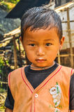 Cute girl in vest in Nepal Royalty Free Stock Photo