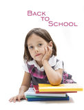 Cute girl waiting to begin the school Royalty Free Stock Photography