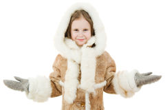 Cute girl in warm clothes Royalty Free Stock Photography