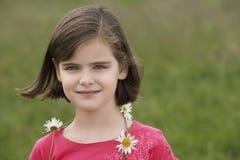 Cute Girl Wearing Garland Stock Photography