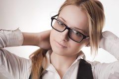 Cute girl wearing glasses Stock Image