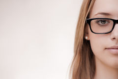Cute girl wearing glasses Royalty Free Stock Image