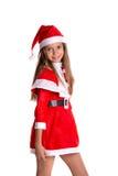 Cute girl wearing Santa Claus clothes Stock Photos