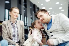 Family in airport Royalty Free Stock Photography