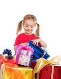 Cute girl wih the presents Stock Photo
