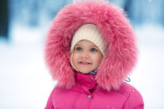 Cute girl winter portrait Stock Images