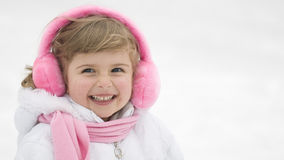 Cute girl winter portrait Royalty Free Stock Photos