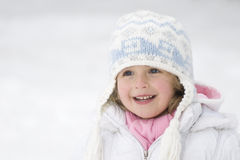 Cute girl winter portrait stock photography