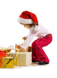Cute Girl With A Xmas Gifts Royalty Free Stock Image