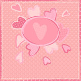 Cute girlish background with hearts Stock Photo