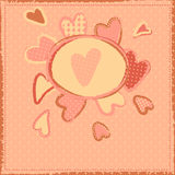 Cute girlish background with hearts Royalty Free Stock Photography